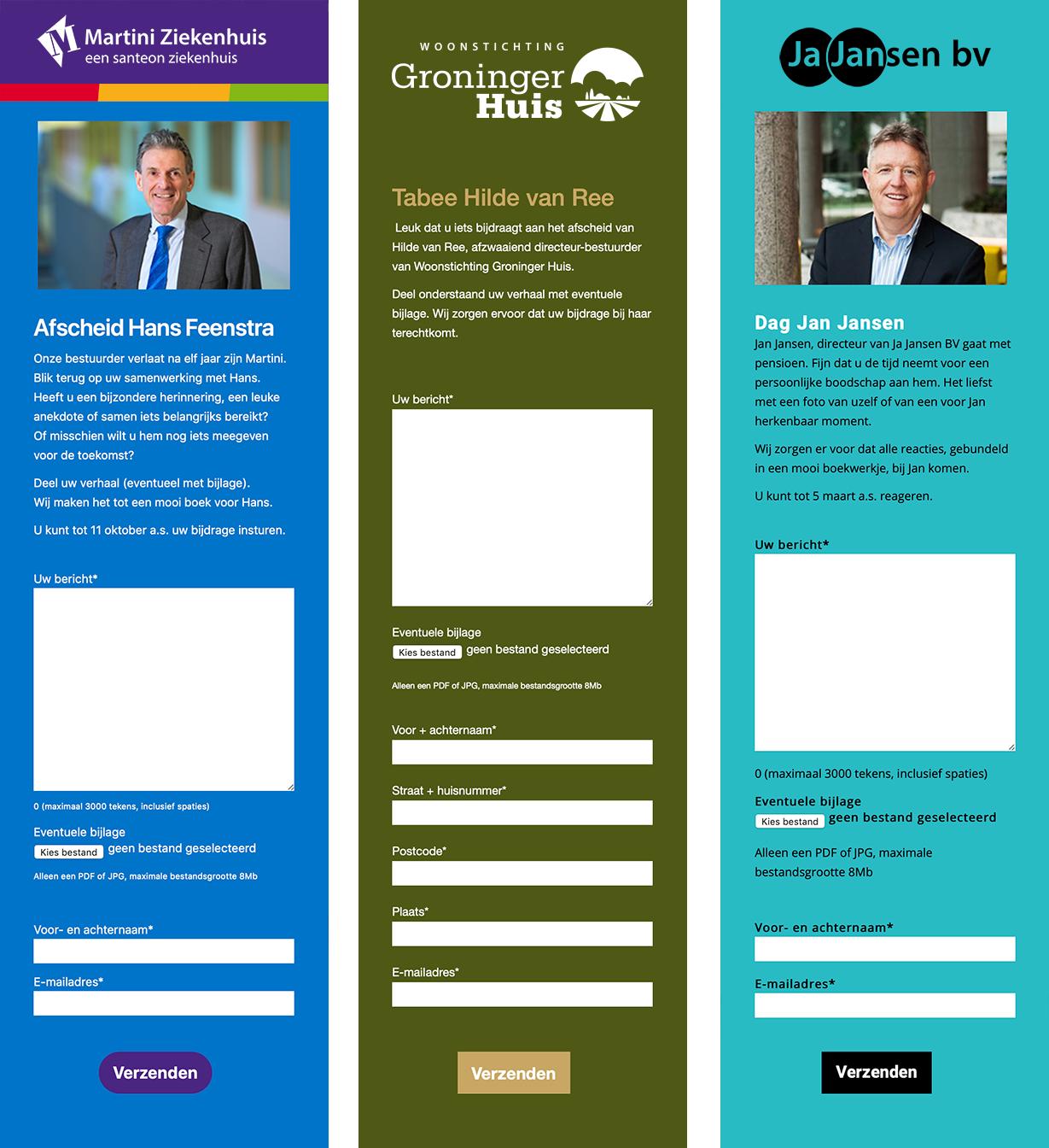 voorbeelden onlineafscheidsreceptie.nl